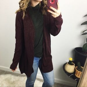 GAP maroon cardigan sweater
